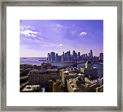 View From Dumbo Framed Print