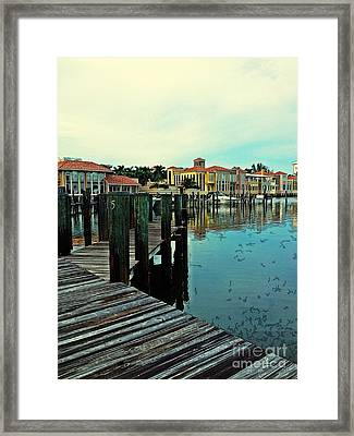 View From The Boardwalk  Framed Print by K Simmons Luna