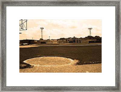 View From The Dugout Framed Print by Frank Romeo