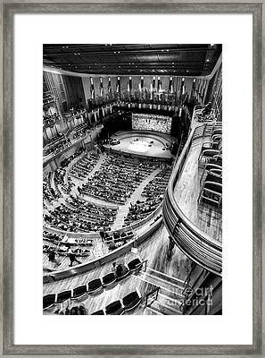 View From The Upper Balcony At Strathmore Music Center Framed Print