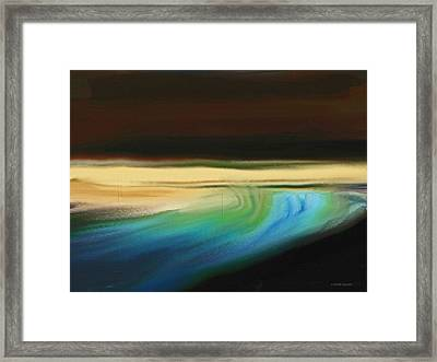 View From Under The Bridge  Framed Print