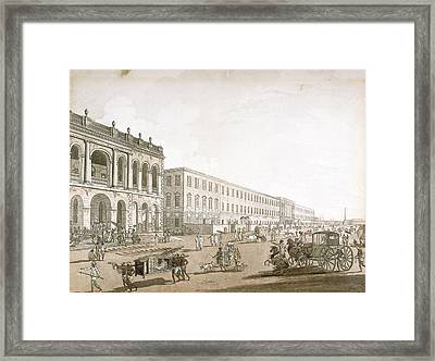 View Of Calcutta Framed Print by British Library
