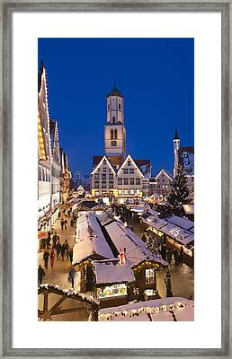 View Of Christmas Fair At St. Martins Framed Print by Panoramic Images