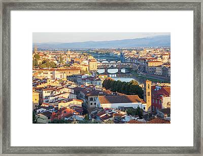 View Of City From Piazza Michelangelo Framed Print by Peter Adams