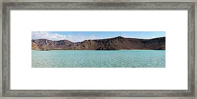 View Of Cliffs From Balandra Bay Beach Framed Print