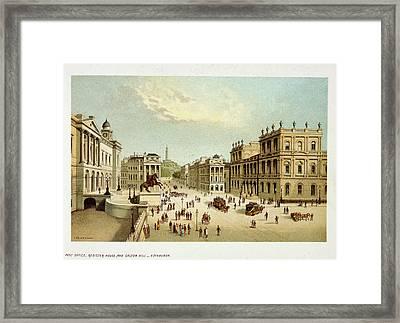 View Of Edinburgh Framed Print by British Library