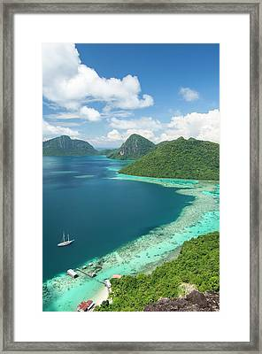 View Of Islands And Reef Framed Print
