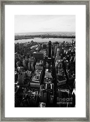 View Of Manhattan West Towards Hudson River And One Penn Plaza New York City Framed Print