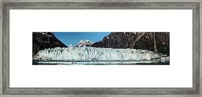 View Of Margerie Glacier In Glacier Bay Framed Print