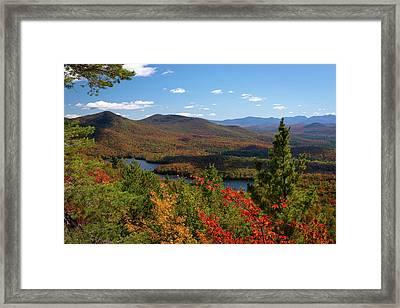View Of Mckenzie Pond From Mount Baker Framed Print