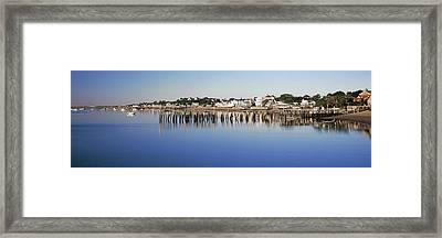 View Of Pier In Ocean, Provincetown Framed Print by Panoramic Images