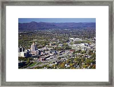 View Of Roanoke Va Framed Print