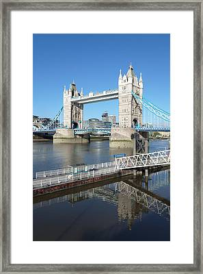 View Of St. Katharine Pier And Tower Framed Print by Panoramic Images