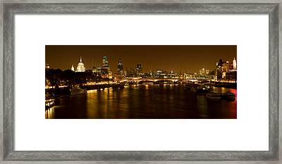 View Of Thames River From Waterloo Framed Print