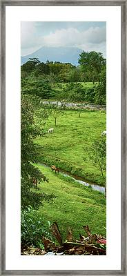 View Of The Arenal Volcano National Framed Print by Panoramic Images