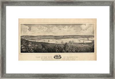 View Of The City Of Washington, The Metropolis Framed Print