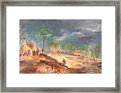 View Of The Countryside Framed Print by Egidio Graziani