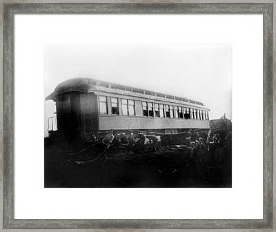 View Of The Great Railroad Wreck Framed Print by Everett