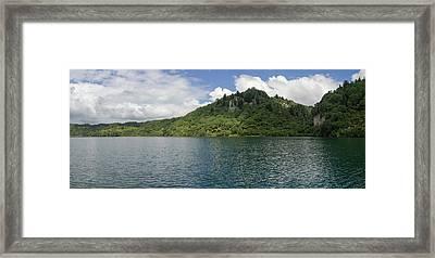 View Of The Lake Tarawera, Rotorua Framed Print