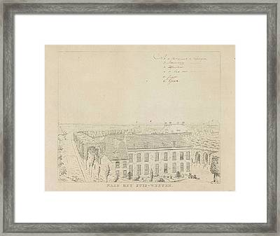 View Of The Rampart Southwest Of Nijmegen Framed Print by Derk Anthony Van De Wart