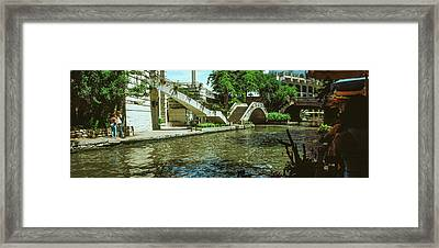 View Of The San Antonio River Walk, San Framed Print by Panoramic Images