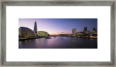 View Of The Shard And City Hall Framed Print