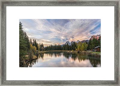 View Of The Spring Creek Pond Framed Print