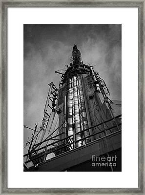 View Of The Top Of The Empire State Building Radio Mast New York City Framed Print by Joe Fox