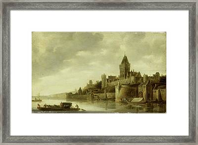 View Of The Valkhof At Nijmegen, The Netherlands Framed Print by Litz Collection