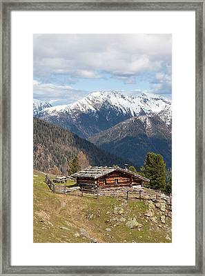 View Over The  Ulten Valley (ultental Framed Print