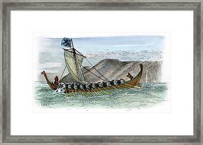 Viking Ship, C1000 Framed Print