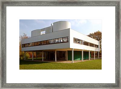 Villa Savoye - Le Corbusier Framed Print by Peter Cassidy