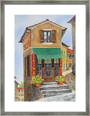 Village In Provence Framed Print by Mary Ellen Mueller Legault