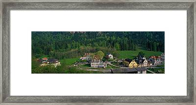 Village Of Hohen-schwangau, Bavaria Framed Print