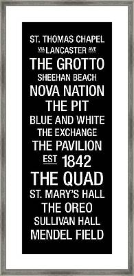 Villanova College Town Wall Art Framed Print