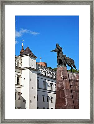 Vilnius, Lithuania, Lietuva, Monument Framed Print by Miva Stock