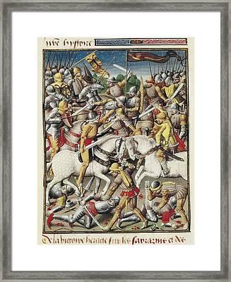 Vincent Of Beauvais 1190-1264. Speculum Framed Print by Everett