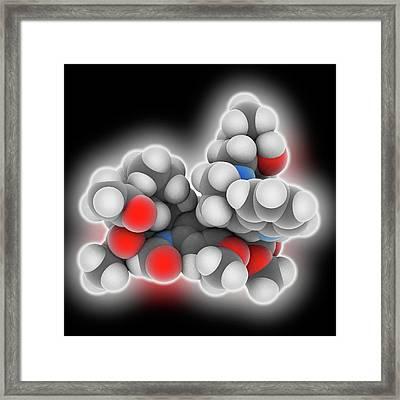 Vincristine Drug Molecule Framed Print by Laguna Design
