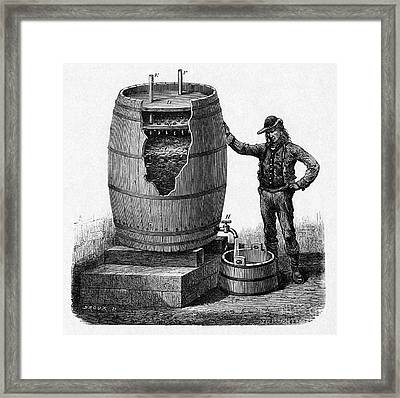 Vinegar Production, 19th Century Framed Print