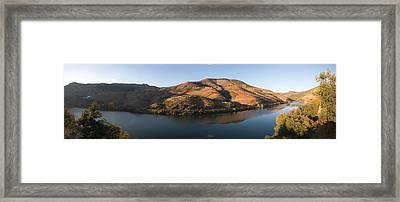 Vineyards At The Riverside, Cima Corgo Framed Print
