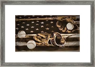 Vintage Baseball Framed Print by Dan Sproul