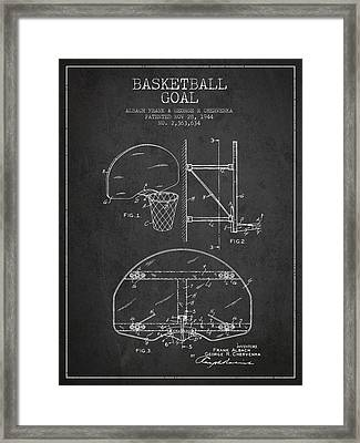 Vintage Basketball Goal Patent From 1944 Framed Print by Aged Pixel