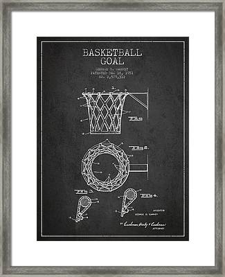 Vintage Basketball Goal Patent From 1951 Framed Print by Aged Pixel