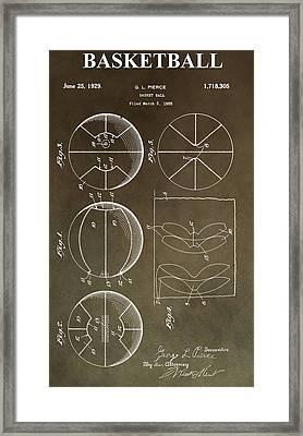 Vintage Basketball Patent Framed Print