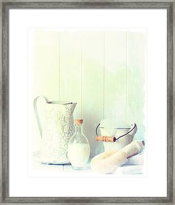 Vintage Bathroom Framed Print