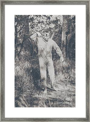 Vintage Black And White Horror Zombie Framed Print by Jorgo Photography - Wall Art Gallery