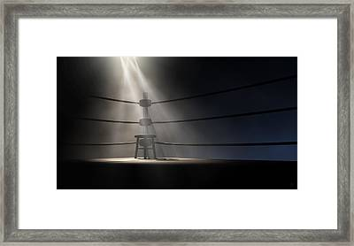 Vintage Boxing Corner And Stool Framed Print
