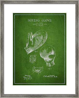 Vintage Boxing Glove Patent Drawing From 1894 Framed Print