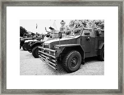 Vintage British Army Military Vehicles On Display County Down Northern Ireland Uk Framed Print by Joe Fox