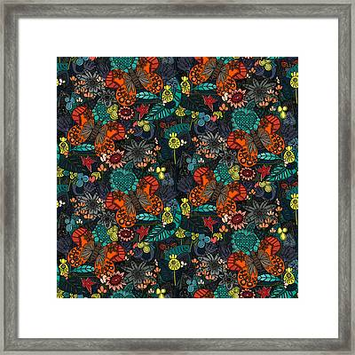 Vintage Butterfly Colour Framed Print by Sharon Turner